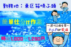 No.210【東区箱崎ふ頭】倉庫内での簡単仕分け作業